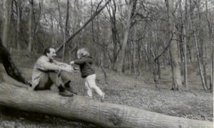 Sam, with his father, in Epping Forest, circa 1968.