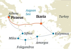 greek islands route