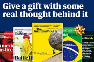 You can now buy a Guardian Weekly subscription as a gift, with free delivery anywhere in the world. Click here to buy now
