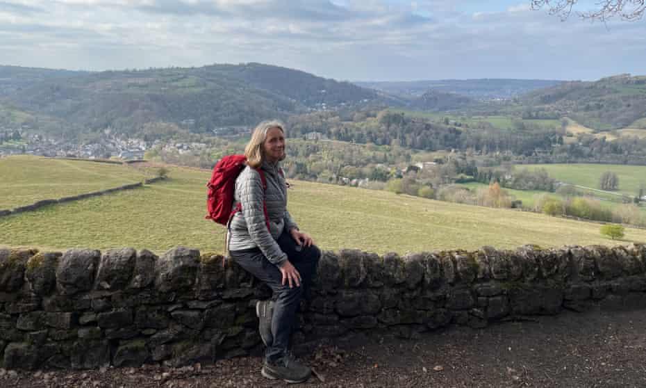 Rachel Bolton looking towards Matlock from the High Peak Trail.