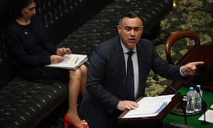 Deputy Premier and NSW Nationals leader John Barilaro answers questions from the opposition September 16, 2020.