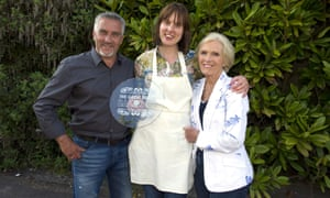 The Great British Bake Off Winner Frances Quinn with Paul Hollywood and Mary Berry.