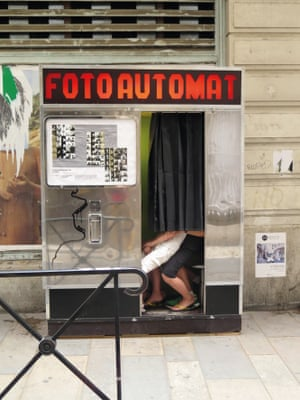 Michael Stipe's photograph of a Fotoautomat in Arles.