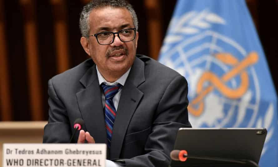 WHO's director general, Tedros Adhanom Ghebreyesus