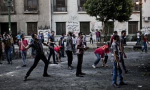 Protesters riot in central Cairo in 2012 over the film.