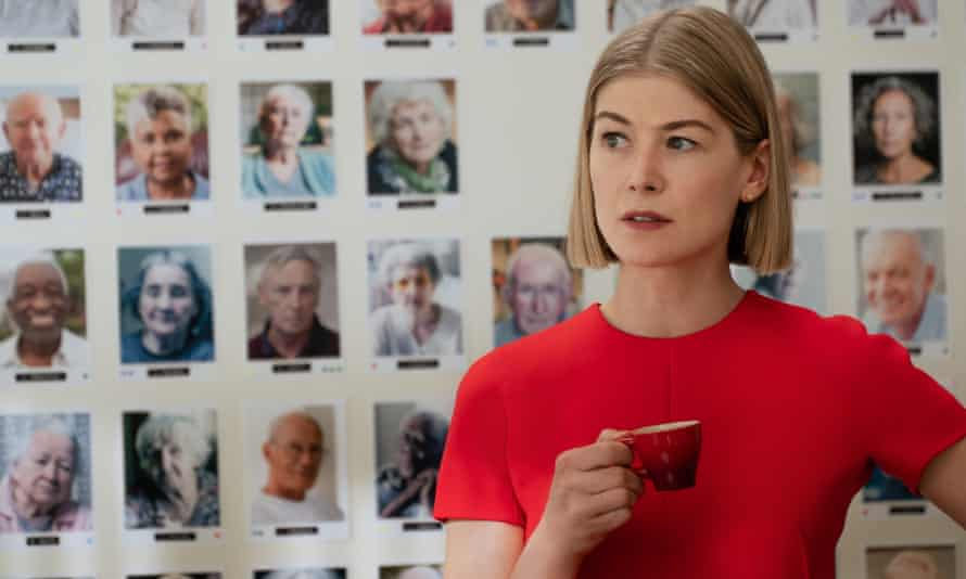 The scam is on… Rosamund Pike as Marla in I Care a Lot.