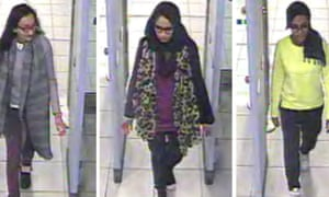 CCTV footage of Kadiza Sultana, Shamima Begum and Amira Abase
