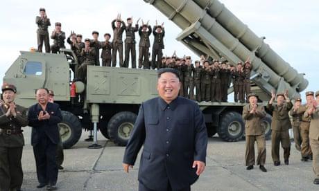North Korea's Kim Jong-un oversaw test of 'super large multiple rocket launcher'