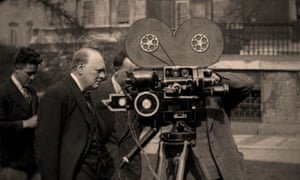 A scene from Churchill and the Movie Mogul.