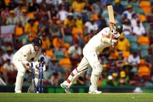 Josh Hazlewood is bowled by Moeen Ali.