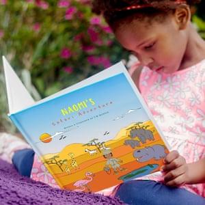 Taaya's daughter Naomi reads Naomi's Safari Adventures