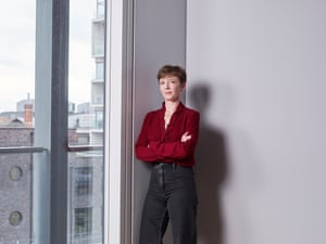 """US lawyer Cori Crider photographed in her new London office as she talks to the Observer Magazine about Foxglove, her four-woman team of lawyers, community activists and tech experts dedicated to fighting for """"tech justice""""."""
