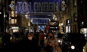 Oxford Street in London on Monday. Some retailers in England were extending opening hours as lockdown loomed.