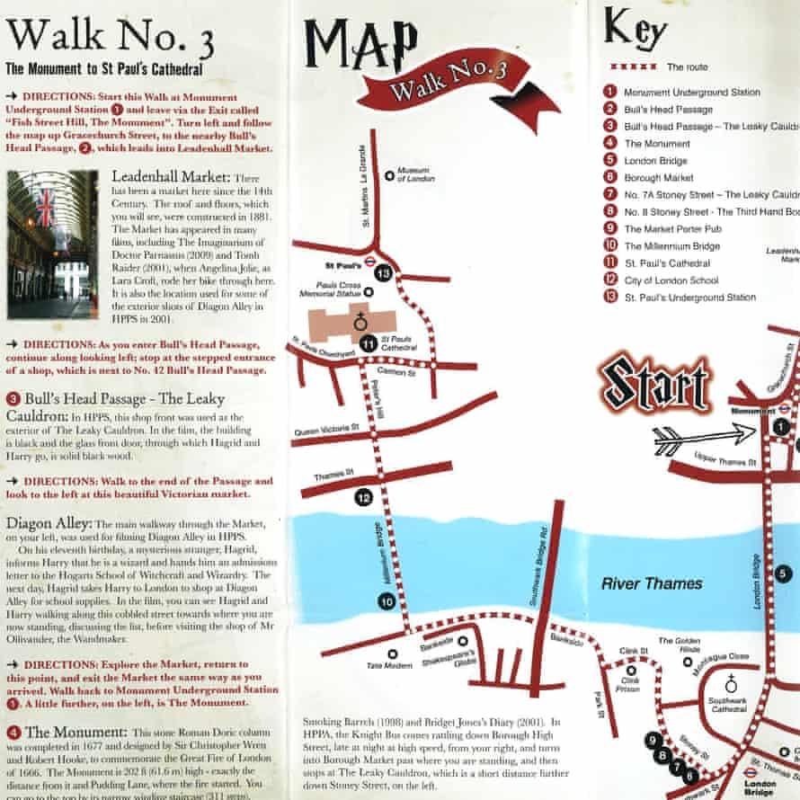 Harry Potter London Map.