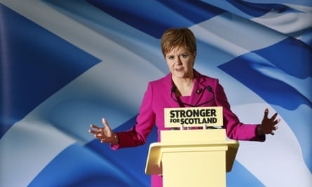Nicola Sturgeon said the SNP 'would drive a hard bargain' with Corbyn on supporting a minority Labour government.