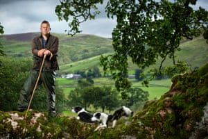 Writer and farmer James Rebanks, photographed at Racy Ghyll farm, Cumbria for Life on a plate in Observer Food Monthly.
