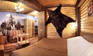 A bedroom at the Cinema Club Hotel, Yaroslavl
