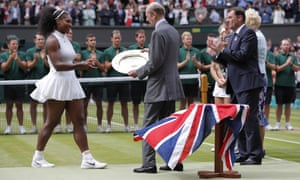 Serena receives the Venus Rosewater Dish.