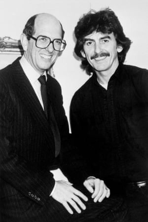 Balance … US financier Denis O'Brien with George Harrison.
