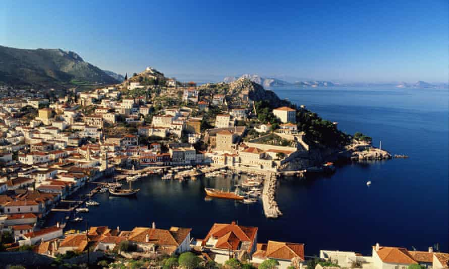 Greek island Hydra, the setting for the 'vivid' A Theatre for Dreamers