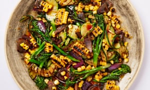 Meera Sodha's chargrilled summer vegetables with dhana-jeera dressing