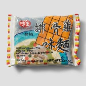 Ve Wong Instant Oriental Noodle Soup porcelain grocery artwork  by artist Stephanie H Shih.