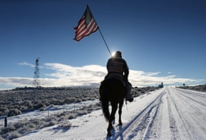 In January 2016, an armed anti-government militia group occupied the Malheur National Wildlife Headquarters in protest the jailing of two ranchers for arson.