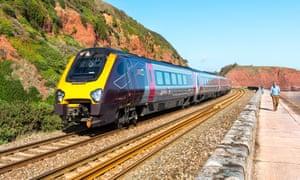 CrossCountry train in Dawlish, Devon