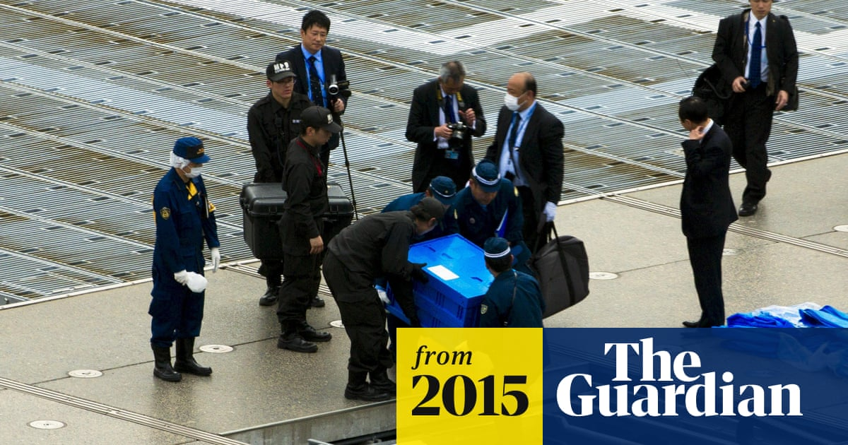 Drone 'containing radiation' lands on roof of Japanese PM's office