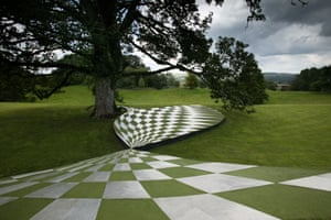 The Garden of Cosmic Speculation at Portrack House. The Garden is dedicated to Jencks' late wife Maggie Keswick. The garden has this name because Jencks, Keswick, scientists, and their friends designed the garden based on nature and science. Jencks's garden celebrates nature, but also includes elements from the modern sciences in the design