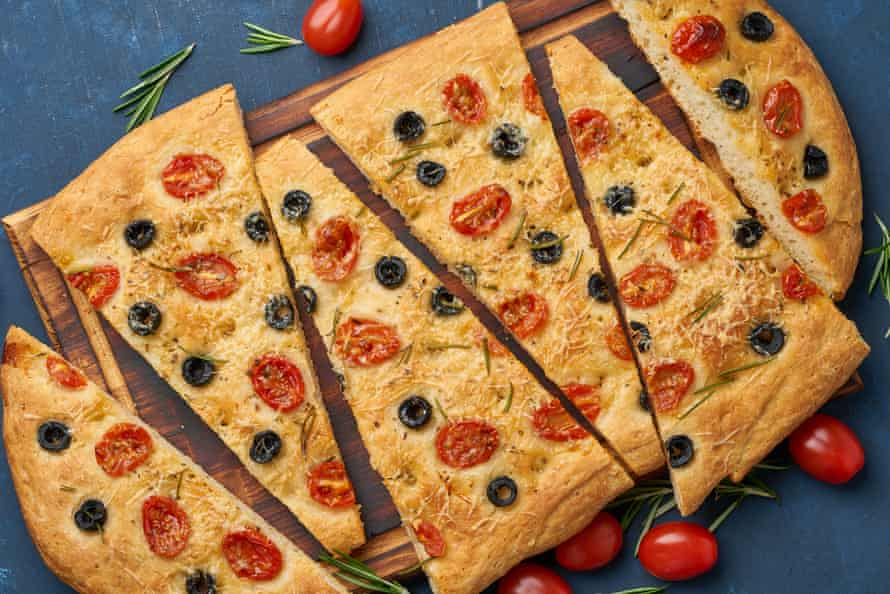 You can raise the focaccia bar with olives, herbs, cheese, tomatoes and even Marmite.