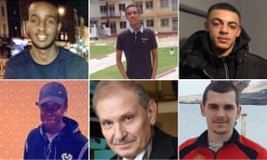 ( L-R clockwise): Sadiq Mohamed, Abdikarim Hassan, Kelva Smith, Joseph Williams-Torres, Nikolai Glushkov and Lyndon Davis.