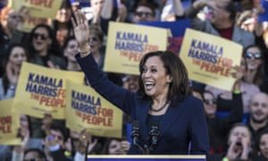 Kamala Harris greets supporters in her kickoff rally for her 2020 presidential campaign at Frank Ogawa Plaza in Oakland, California.