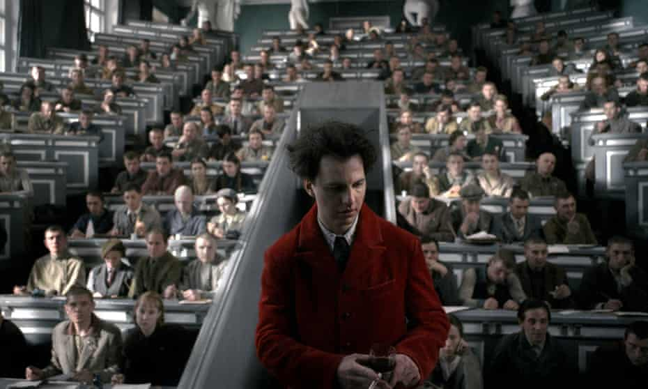 Lev Landau lectures students in a scene from the original film, for which Khrzhanovsky plans a cinema release.