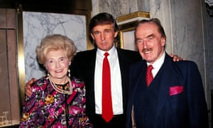 Donald Trump with his mother, Mary, and father, Fred.