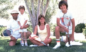 Andre Agassi and family