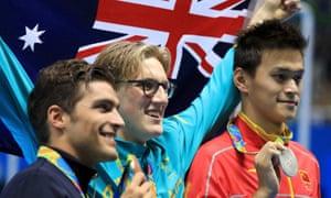 Australia's 400m freestyle gold medalist Mack Horton
