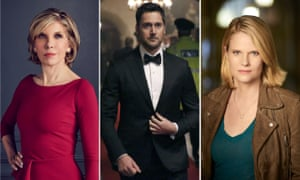 Spinning around... Christine Baranski in The Good Fight, Ryan Eggold in The Blacklist: Redemption, and Joelle Carter in Chicago Justice.