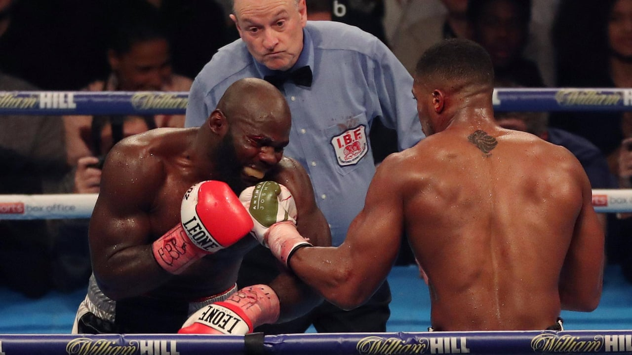 Anthony Joshua retains titles and 100% record with win over Carlos Takam –  video dea4f50b7