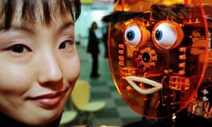 A robot, called Pong, in Tokyo