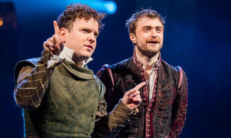 Joshua McGuire and Daniel Radcliffe in Rosencrantz and Guildenstern Are Dead.