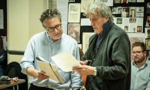 Patrick Marber and Tom Stoppard in rehearsal for Leopoldstadt.