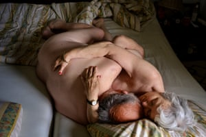 Gave Us the Gift of Sexuality, Diepholz, Germany, by Mirja Maria Thiel  'Irene, 80, and Günter, 79, have been married for 60 years. I got to know them for my series about love and sex in old age,' says Thiel. 'They are both art enthusiasts and painters who have a loving connection to their own bodies and each other's'