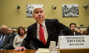 Rick Snyder, the governor of Michigan, before a hearing about the Flint water crisis in front of the US House committee on government oversight and reform in March 2016.