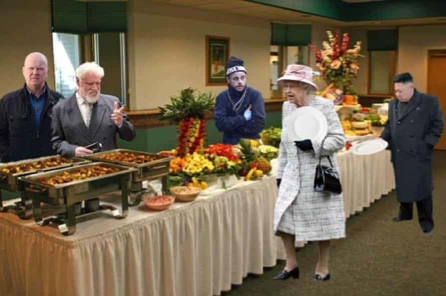 Fit for a royal … the buffet table