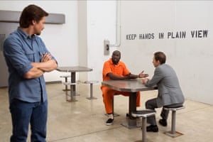 Jeremy Renner, Michael K Williams and Tim Blake Nelson in the film Kill The Messenger, 2014