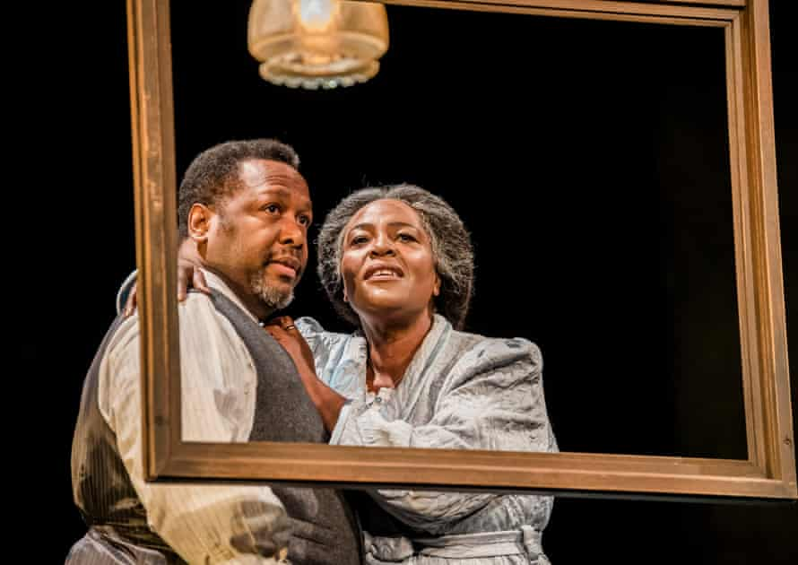 Wendell Pierce and Sharon D Clarke in Death of a Salesman, directed by Marianne Elliott and Miranda Cromwell for the Young Vic in 2019.