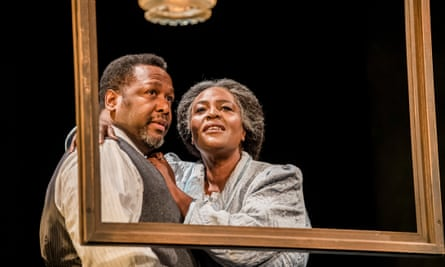 Wendell Pierce as Willy Loman and Sharon D Clarke as Linda Loman in Death of a Salesman, directed by Marianne Elliott and Miranda Cromwell