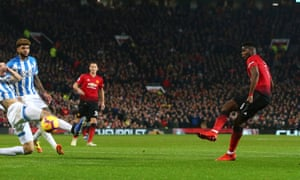 Paul Pogba of Manchester United scores his sides second goal.