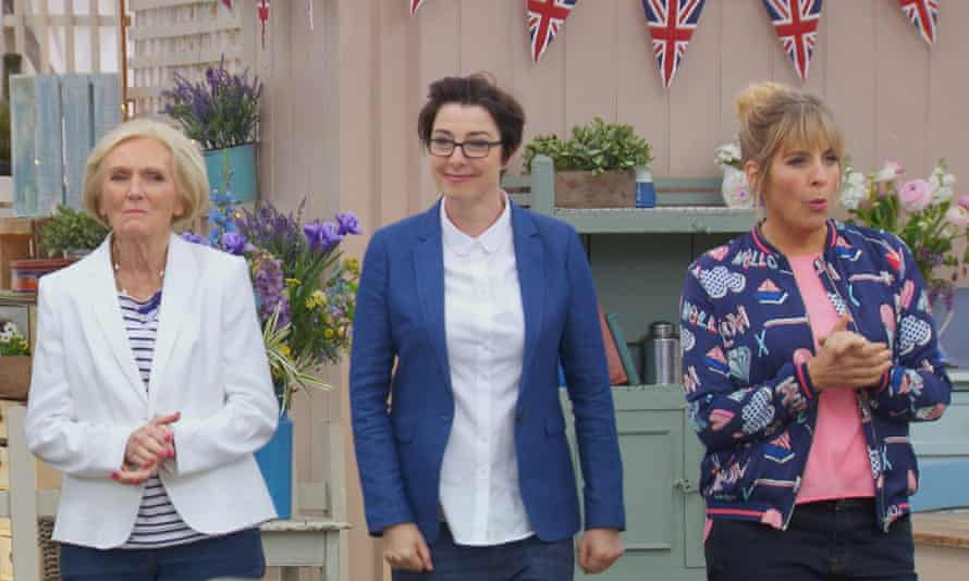 The Great British Bake Off: Mary Berry, with Sue Perkins and Mel Giedroyc.